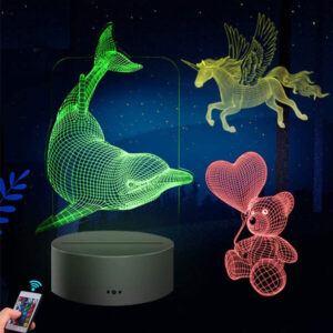 3d Illusion lamp, Custom 3D Led Night light